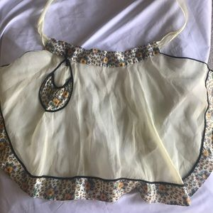 Vintage yellow tissue apron